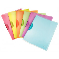 Klemmap Leitz ColorClip Rainbow PP A4 30vel assorti