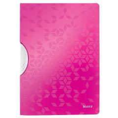 Klemmap Leitz ColorClip WOW PP A4 30vel roze metallic (4185023)