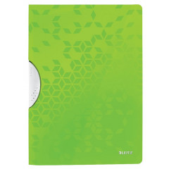 Klemmap Leitz ColorClip WOW PP A4 30vel groen metallic (4185054)