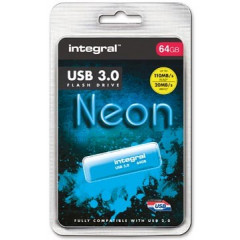 USB-stick Integral Neon 3.0 64GB blauw