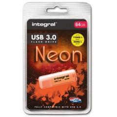 USB-stick Integral Neon 3.0 64GB oranje