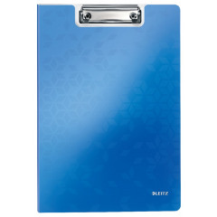Klemmap Leitz WOW polyfoam A4 blauw metallic (4199036)