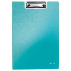 Klemplaat Leitz WOW met overslag polyfoam A4 ijsblauw metallic (4199051)