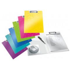 Klemplaat Leitz WOW met overslag polyfoam A4 assorti metallic