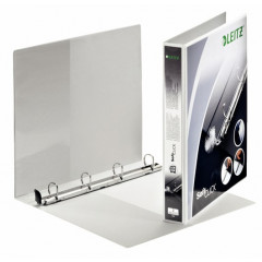 Panorama ringmap Leitz SoftClick PP A4 maxi 4 D-ringen 20mm rug 3,8cm 2 insteekvakken wit