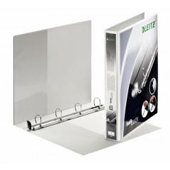 Panorama ringmap Leitz SoftClick PP A4 maxi 4 D-ringen 25mm rug 4,4cm 2 insteekvakken wit
