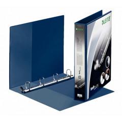 Panorama ringmap Leitz SoftClick PP A4 maxi 4 D-ringen 30mm rug 5,2cm blauw