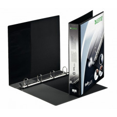 Panorama ringmap Leitz SoftClick PP A4 maxi 4 D-ringen 30mm rug 5,1cm 2 insteekvakken zwart (4202095