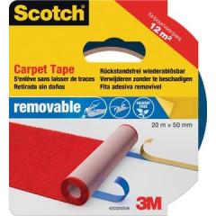 Tapijttape Scotch verwijderbaar 55mmx20m