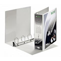 Panorama ringmap Leitz SoftClick PP A4 maxi 4 D-ringen 50mm rug 7,7cm 2 insteekvakken wit (4203001)