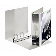Panorama ringmap Leitz SoftClick PP A4 maxi 4 D-ringen 60mm rug 8,6cm 2 insteekvakken wit (4203001)