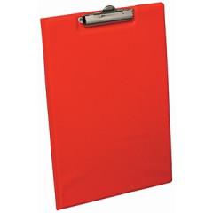 Klemplaat Elba Standaard met overslag PP A4 rood
