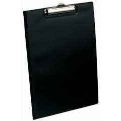 Klemplaat Elba Standaard met overslag PP A4 zwart