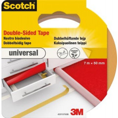 Dubbelzijdige tape Scotch universal tapijt & vinyl 50mm x 7m