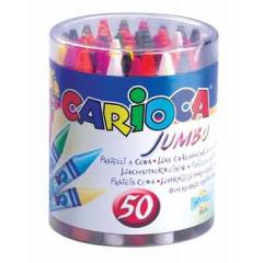 Waskrijt Carioca Jumbo 12mm assorti poti (50)
