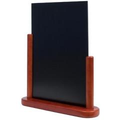 Securit tafelkrijtbord Elegant, ft A4, mahonie