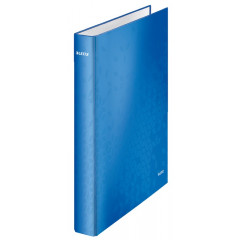 Ringmap Leitz WOW karton A4 maxi 4 D-ringen 25mm rug 4cm blauw (4242036)