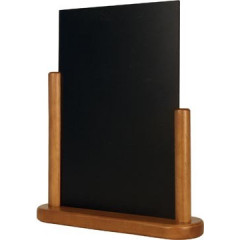 Securit tafelkrijtbord Elegant, ft A4, teak