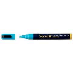 Krijtmarker Securit Original SMA510 medium beitelpunt 2-6mm blauw
