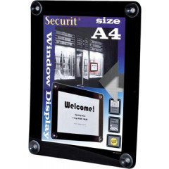 Securit vitrine posterframe ft A4, zwart