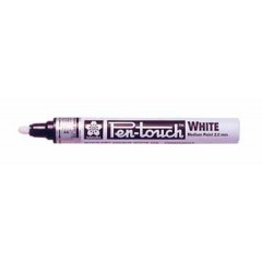 Paintmarker Sakura Pen-Touch ronde punt 2mm wit