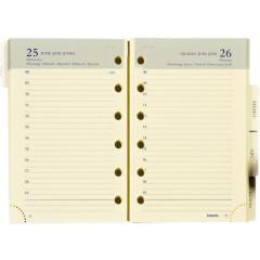 Vulling Brepols voor agenda Brefax 21 80x125mm 2022 1 dag/pagina
