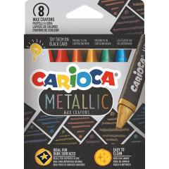 Waskrijt Carioca Wax Metallic assorti (8)