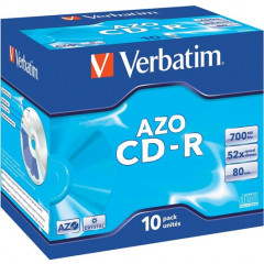 CD-R Verbatim 700MB 80min 52X jewel case (10)