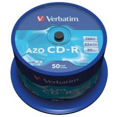 CD-R Verbatim 700MB 52X spindel (50)