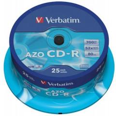 CD-R Verbatim 700MB 52X spindel (25)