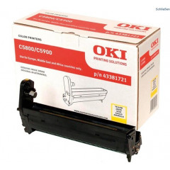 Drum Oki Color Laser 43381721 C5550 MFP 20.000 pag. YEL
