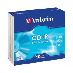 CD-R Verbatim 700mb 80min 52X slimcase (10)
