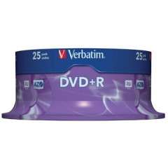 DVD Verbatim Recordable DVD+R spindel (25)