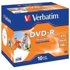 DVD-R Verbatim 4,7GB 16X jewel case (10)