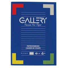 Schrift Gallery A4 gelijnd 72blz assorti