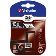 Geheugenkaart Verbatim MicroSDHC klasse 10 16GB