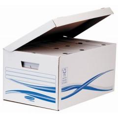 Archiefcontainer Fellowes Bankers Box Flip Top Maxi 26x52,6x35cm inclusief 6 archiefdozen