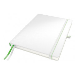 Notitieboek Leitz Complete harde kaft A4 geruit 160blz lederlook wit