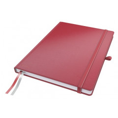 Notitieboek Leitz Complete harde kaft A4 geruit 160blz lederlook rood