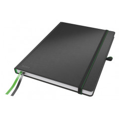Notitieboek Leitz Complete harde kaft A4 geruit 160blz lederlook zwart