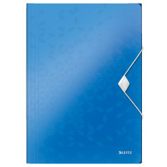 Elastomap Leitz WOW PP A4 blauw metallic (4599036)
