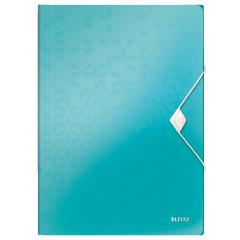 Elastomap Leitz WOW PP A4 ijsblauw metallic (4599051)