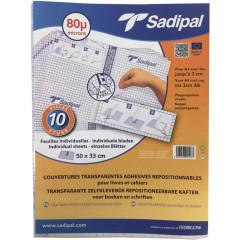 Zelfklevende, herpositioneerbare plastic Sadipal met individuele bladen 50x33cm 80 micron (10)