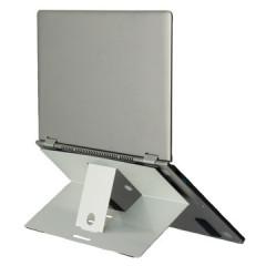 "Laptopstandaard R-Go Riser Attachable permanente bevestiging aan laptops tot max. 5kg/22"" zilver"