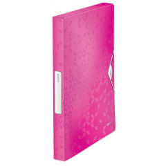 Elastobox Leitz WOW PP A4 25mm roze metallic (4629023)