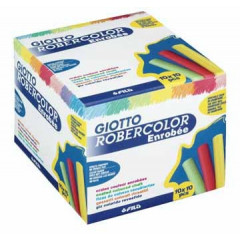Krijt Giotto Robercolor met coating assorti (10x10)