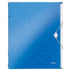 Sorteermap Leitz WOW PP A4 6-vaks blauw metallic