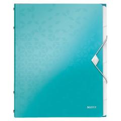 Sorteermap Leitz WOW PP A4 6-vaks ijsblauw metallic