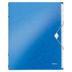 Sorteermap Leitz WOW PP A4 12-vaks blauw metallic
