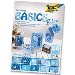 Motiefpapier Folia basics 24x34cm blauw (30)